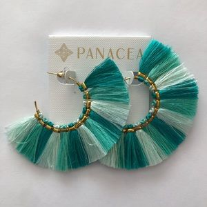 Panacea Teal Ombre tassel earrings